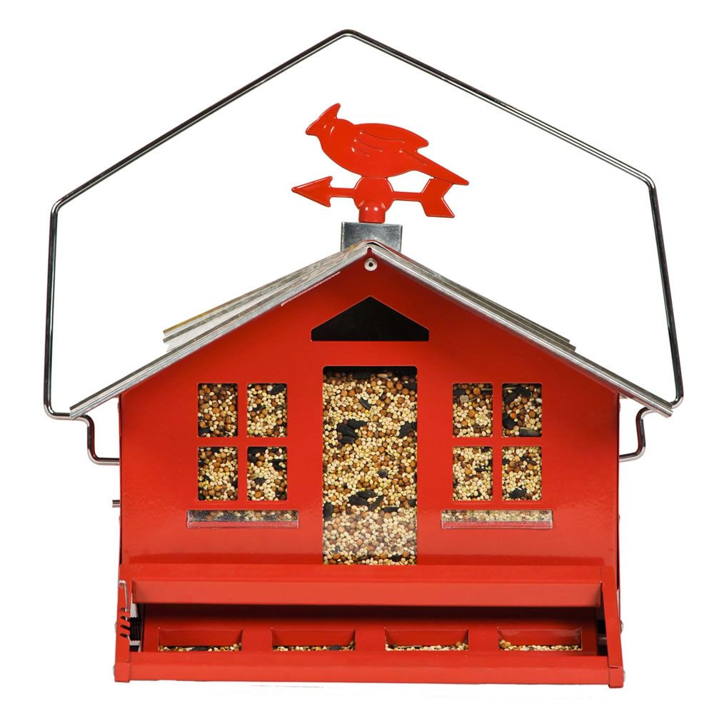 Mangeoire pour oiseaux sauvages Perky-Pet Squirrel-Be-Gone II Red Country Style