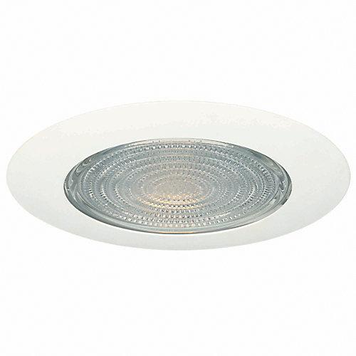 Luminaire de garniture de douche avec lentille de Fresnel et écran thermique, 6po, blanc