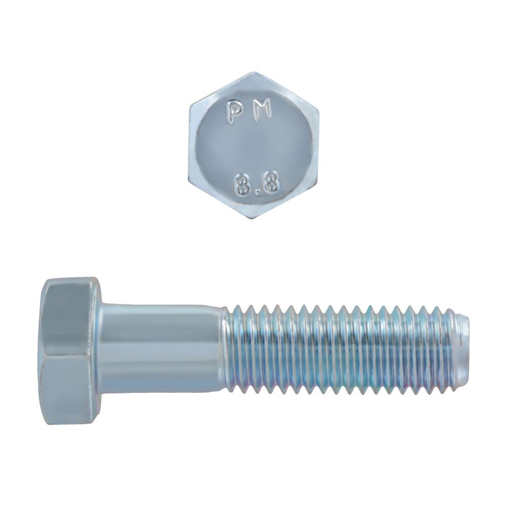 M12x50 Metric Hex Bolt 8.8 Unc