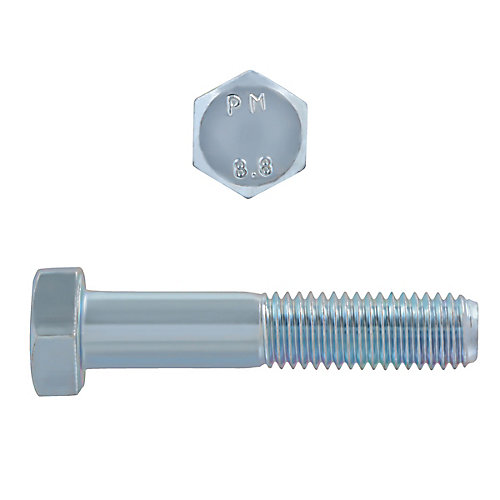 M12-1.75 x 60mm Class 8.8 Metric Hex Cap Screw - DIN 931 - Zinc Plated