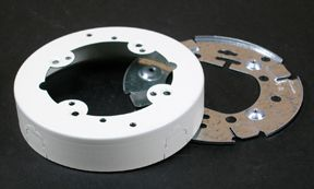 Metal Circular Extension Box Ivory
