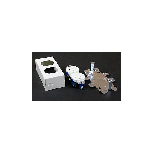 Legrand Wiremold Duplex Receptacle & Box Ivory