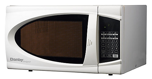 Designer 0 7 Cu Ft Countertop Microwave In White