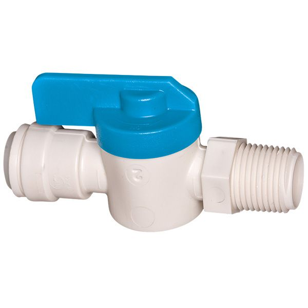 PL-3012 1/4 In. O.D. Tube  X 1/4 In. Male Iron Pipe Shut-Off Valve