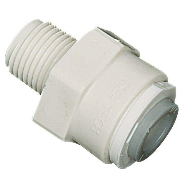 """Pl-3005 1/4"""" O.D. Tube  X 1/4"""" Mip  Adaptatuer"""