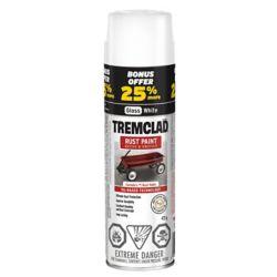 TREMCLAD Oil-Based Rust Paint In Gloss White, 425 G Aerosol Spray Paint