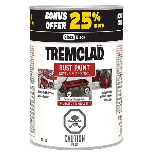 TREMCLAD Tremclad Noir Lustré 25% de Plus 1183 ml