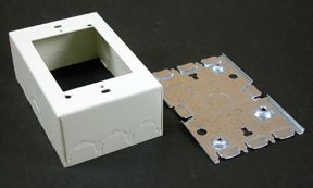 1 Gang  Deep Switch & Receptacle Box Ivory