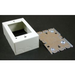 Legrand Wiremold 1 Gang  Deep Switch & Receptacle Box Ivory