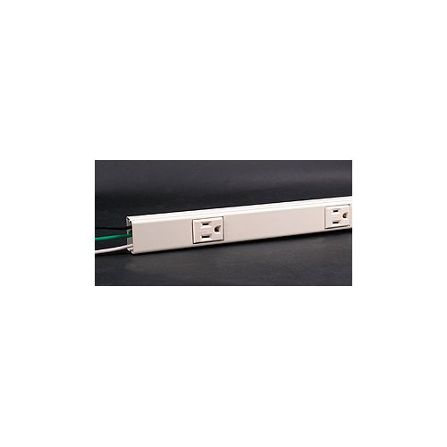 Legrand Wiremold Hard Wired  Multi-Outlet Strip Ivory
