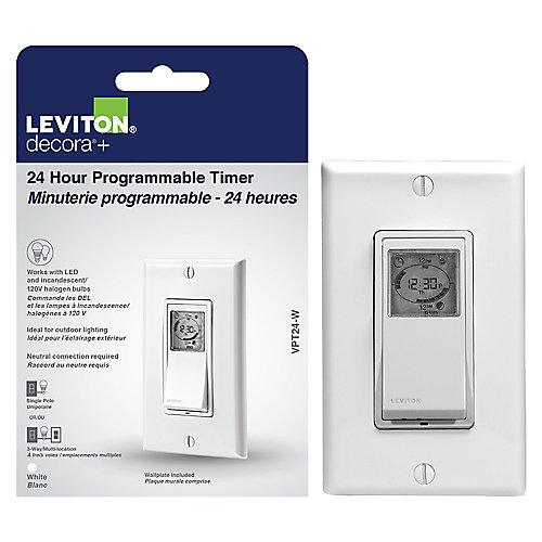 Vizia 24-Hour Programmable Timer Switch in White