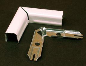 Legrand Wiremold 90 Degree Fat Elbow Metal White