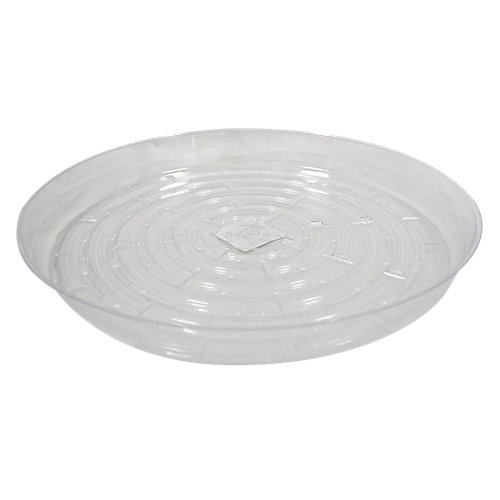 12-inch Clear Vinyl Saucer for Potted Plants