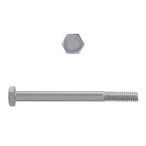 Vis à tête hexagonale 1/4 po-20 x 3 po en acier inoxydable 18,8 po - UNC
