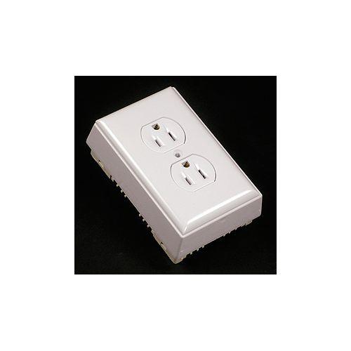 Legrand Wiremold Receptacle, Plate & Box Kit Non Metallic White