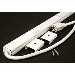 Legrand Wiremold Barre multi-prises ivoire longueur de 52 pouces avec 8 prises