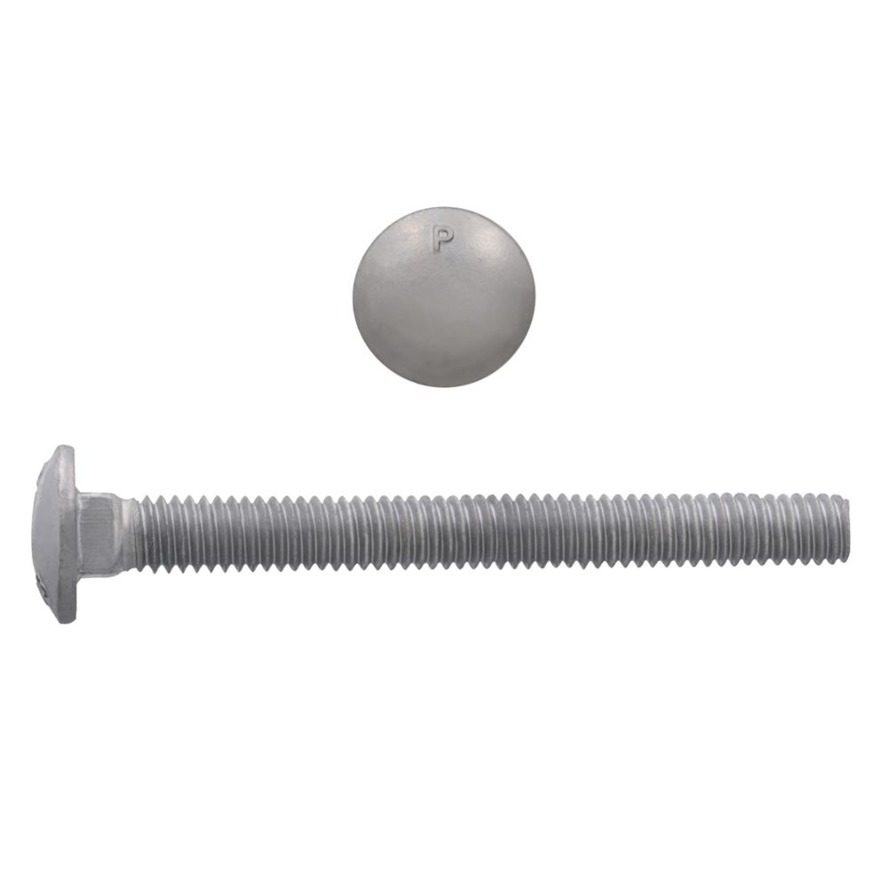 3/8x3 1/2 GR2 Carriage Bolt HDG