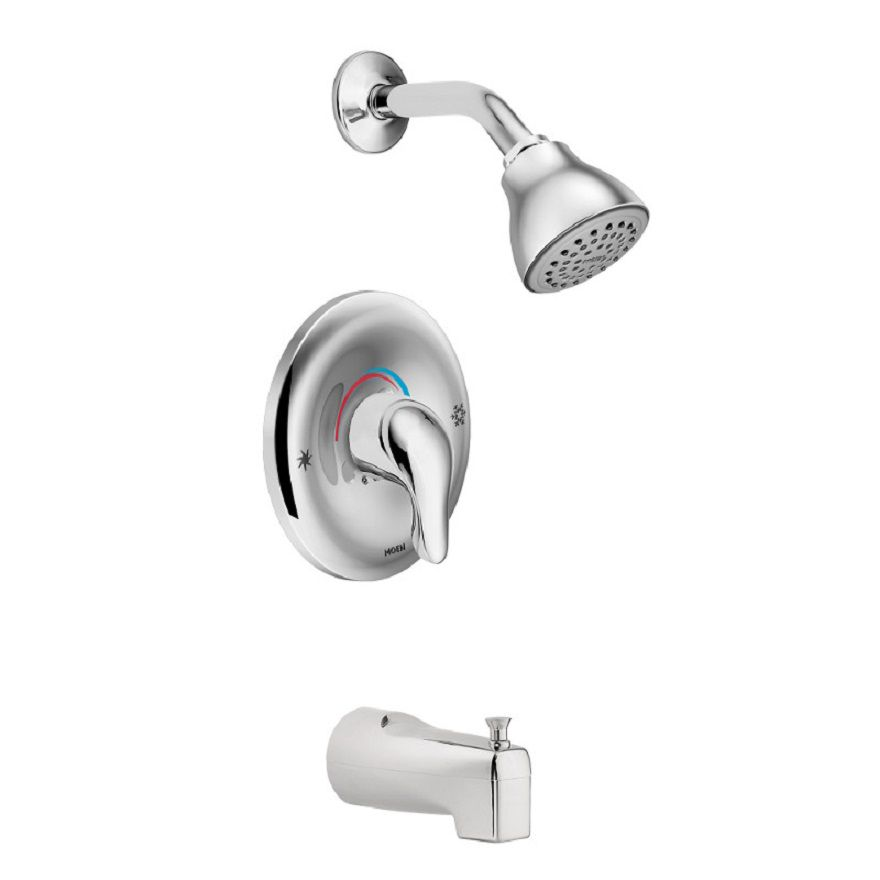 Chateau Single-Handle Posi-Temp Bath/Shower Faucet in Chrome