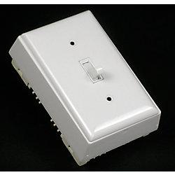 Legrand Wiremold Kit dinterrupteur unipolaire/plaque/boîte blanc.