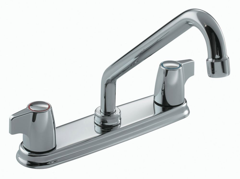 moen faucet with ca faucets manor chrome spray side s handle kitchen lowe one