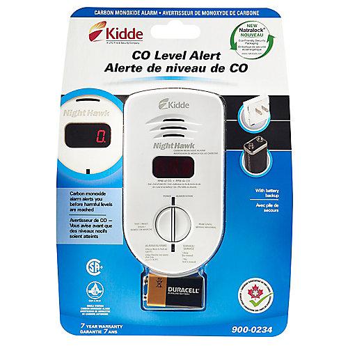 Digital CO Alarm, Plug-in with Batt B/U