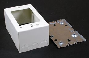 1 Gang Deep Metal Switch & Receptacle Box Ivory