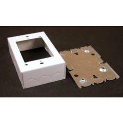 Legrand Wiremold 1 Gang Deep Metal Switch & Receptacle Box White
