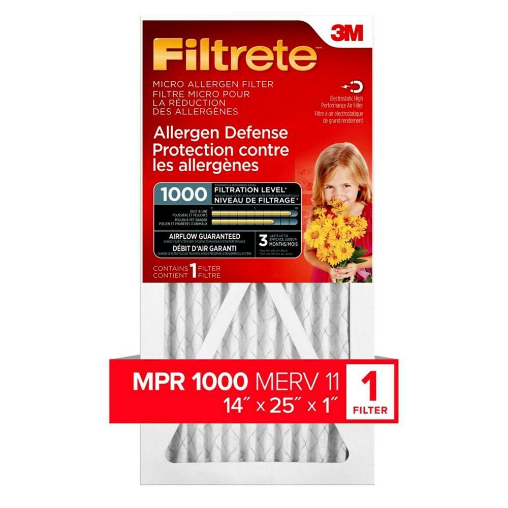 3M Filtrete 14x25 Micro Allergen Reduction Filter