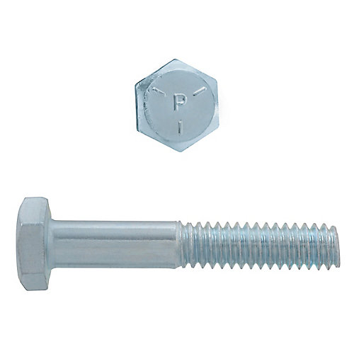 1/4-inch x 1-1/2-inch Hex Head Cap Screw - Zinc Plated - Grade 5 - UNC