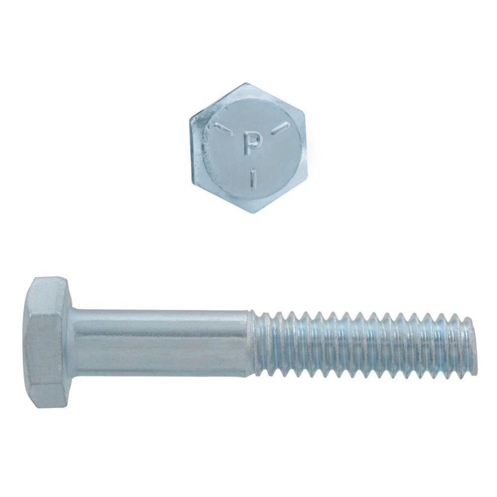1/4x1-1/2 Boulons Hex Classe 5 Zinc Plaqué Unc