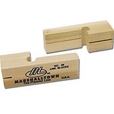 Blocs à cordeau en bois 3 3/4 po (9,5 cm)