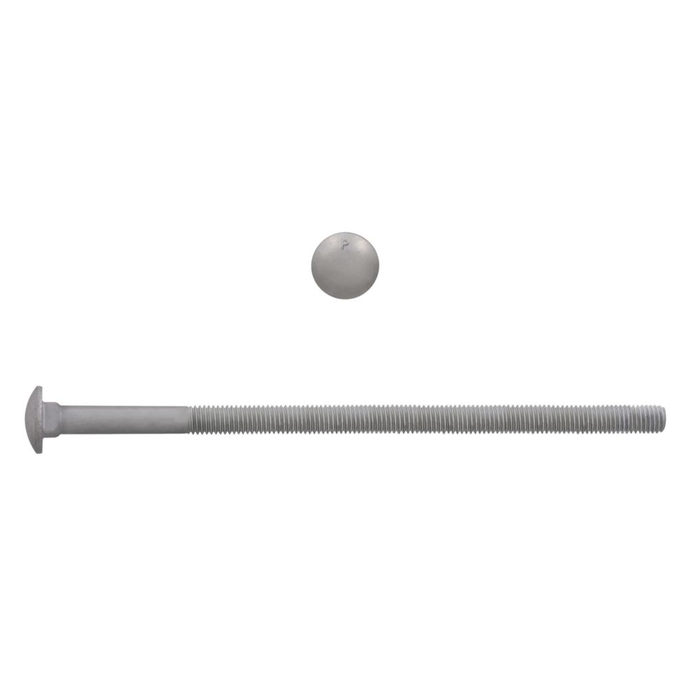 3/8x8 GR2 Carriage Bolt HDG