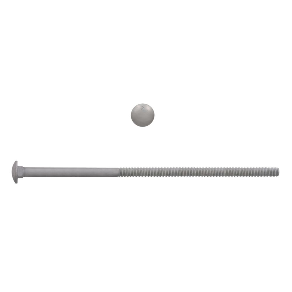 3/8x10 GR2 Carriage Bolt HDG