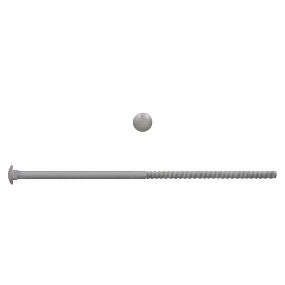 3/8x12 GR2 Carriage Bolt HDG