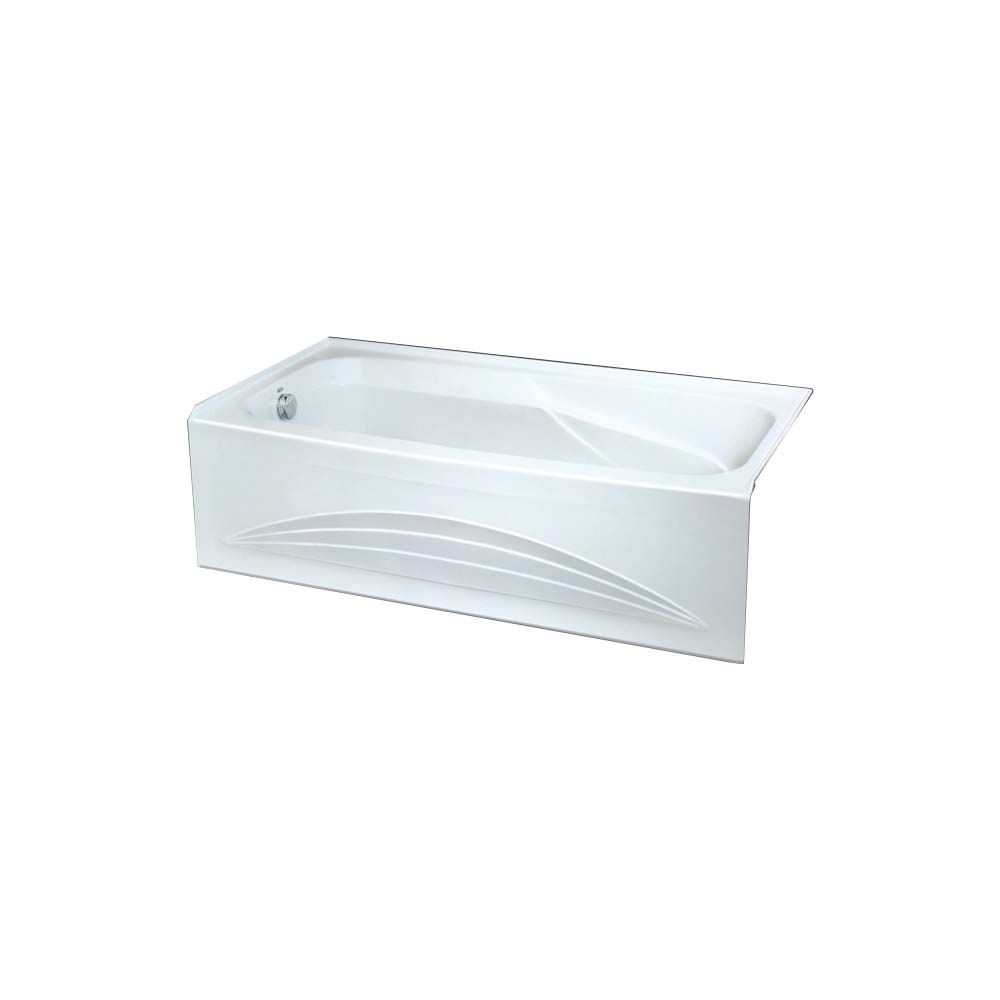 Marina Acrylic Integral Bathtub with Left-Hand Drain