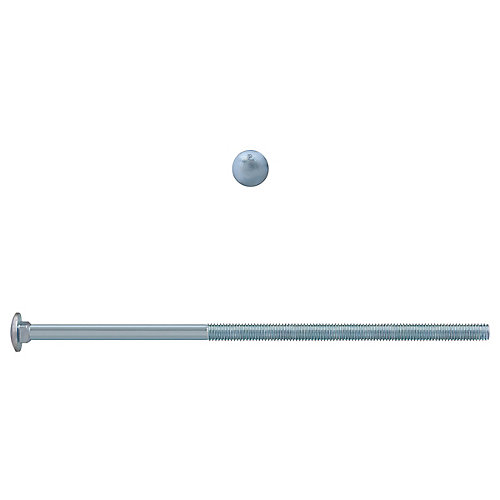3/8-inch x 10-inch Carriage Bolt - Zinc Plated - UNC