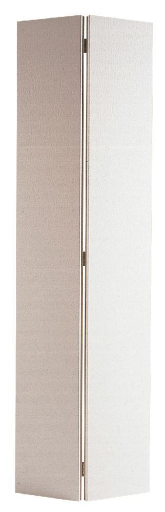 30-inch x 80-inch Primed Hardboard Bifold Door