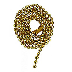 Brass Beaded Chain with Connector - 36 Inch (91.4 cm)