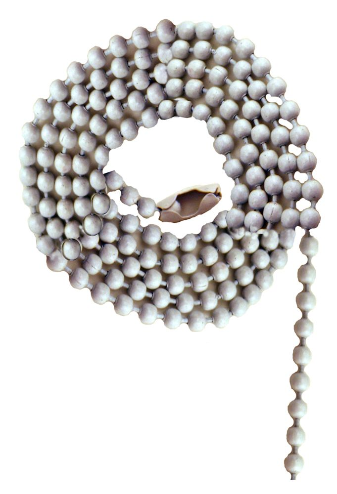 White Beaded Chain with Connector - 36 Inch (91.4 cm)