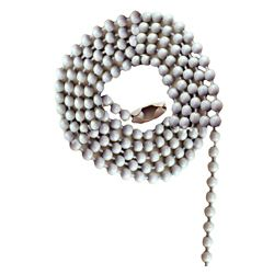 Atron White Beaded Chain with Connector - 36 Inch (91.4 cm)
