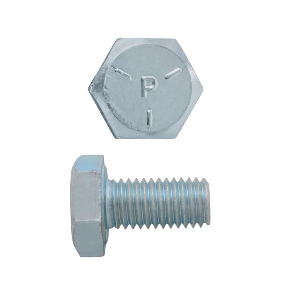 1/4x1/2 Boulons Hex Classe 5 Zinc Plaqué Unf