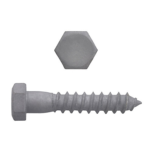 3/8-inch x 2-inch Hex Head Lag Bolt - Hot Dipped Galvanized