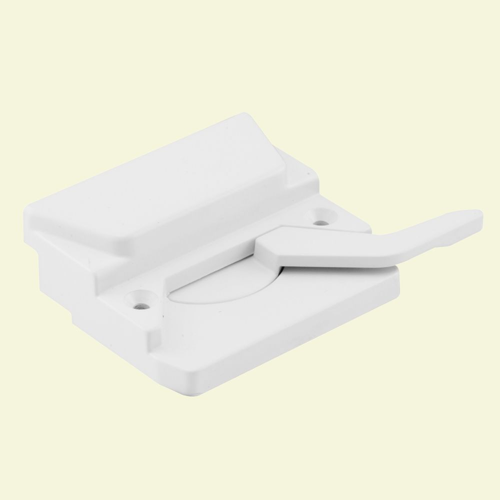 Left Handed Sash Lock and Keeper, White