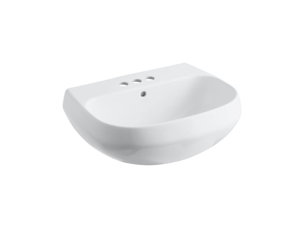 Wellworth Bathroom Basin in White