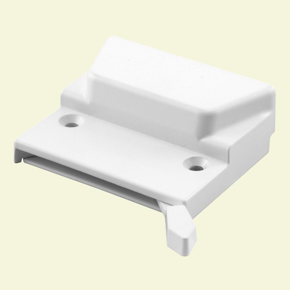 Low Profile Sash Lock with Keeper, White