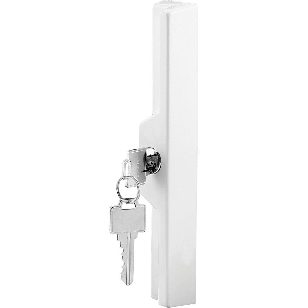 Prime-Line Poignée extérieure de porte en verre, blanche