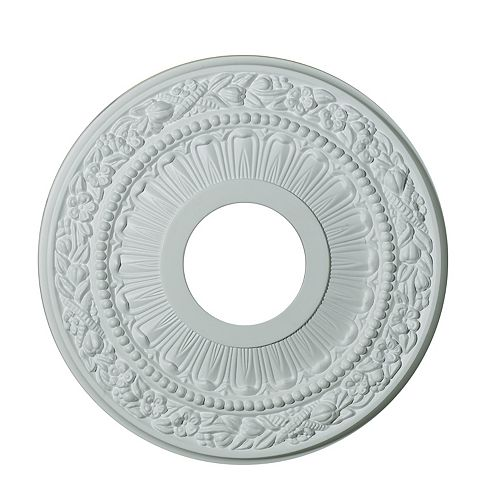 Hampton Bay 12-inch Medallion Fixture Accent with Harvest Pattern in Matte White Finish