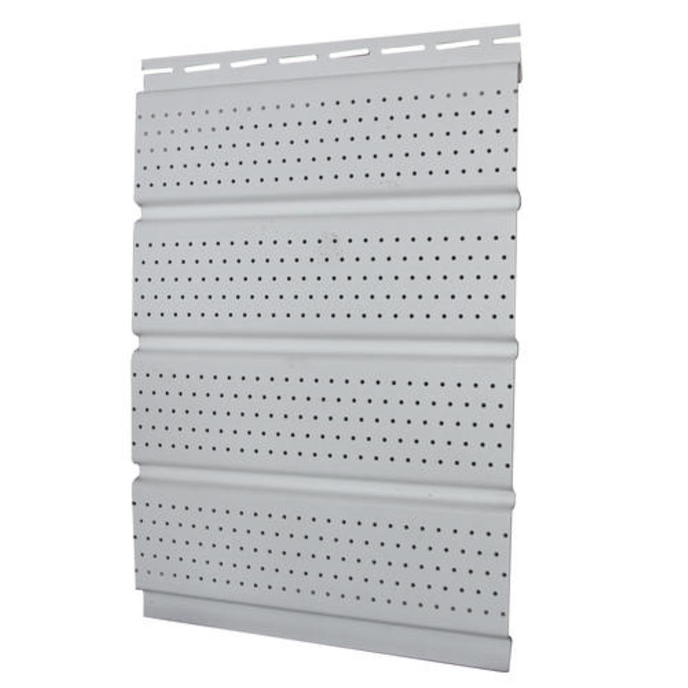 16 in.  Perforated Soffit - white