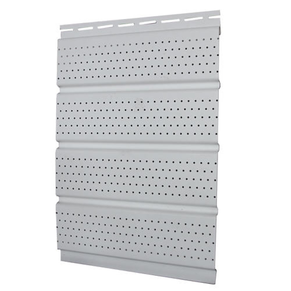 16 inch Perforated Soffit - White each
