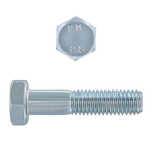 M10-1.50 x 45mm Class 8.8 Metric Hex Cap Screw - DIN 931 - Zinc Plated